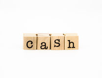 Cash wording, money concept and idea Stock Photography