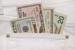 Cash in your pocket Royalty Free Stock Photography