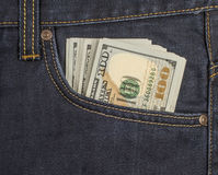 Cash in your pocket Royalty Free Stock Images