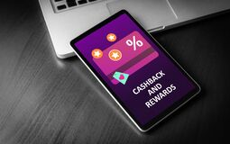 Free Cashback And Rewards - Loyalty Program And Retail Customer Money Refund Service Concept. Discount Card With Rewarding Points Royalty Free Stock Photo - 181906285