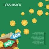 Cashback banner with wallet stock illustration