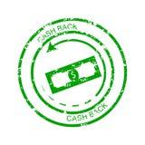 Cashback rubber stamp. Cash back business money, illustration of grunge guarantee finance vector Royalty Free Illustration