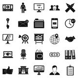 Cashbox icons set, simple style Royalty Free Stock Photos