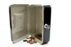 Cashbox with money Royalty Free Stock Images