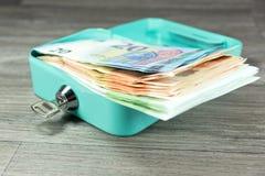 Cashbox och kassa royaltyfri bild