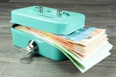 Cashbox och kassa arkivfoto