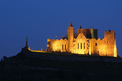Cashel Abbey at night. Ruins of Cashel Abbey lighted at night . Tipperary , Ireland Stock Photo