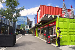 Cashel Street Container Mall Stock Photo