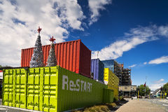 Cashel Street Container Mall Royalty Free Stock Photos