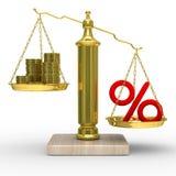 cashes procentvikter Royaltyfria Bilder