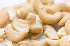 Cashew. Heap of salted cashew close-up Stock Photo
