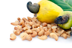 Cashew apples and nuts Royalty Free Stock Photography