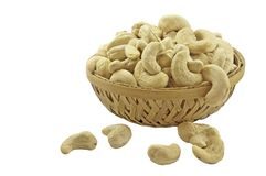 Cashew in basket Stock Photo