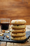 Cashew butter chocolate chips cookies Stock Photography