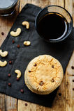 Cashew butter chocolate chips cookies Royalty Free Stock Image