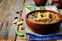 Cashew butter spinach and red bean stew Stock Photography