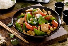 Cashew Chicken Royalty Free Stock Photography