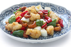 Cashew chicken , chinese food Stock Images