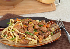 Cashew Chicken With Noodles Stock Photography