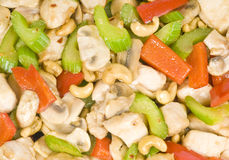 Cashew Chicken Stir Fry Royalty Free Stock Images