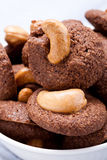 Cashew cookie Royalty Free Stock Images