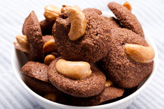 Cashew cookie Royalty Free Stock Image