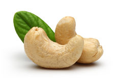 Cashew and leaves Royalty Free Stock Image