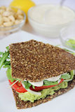 Cashew mayo on sandwich Royalty Free Stock Images