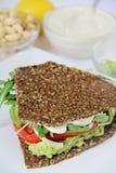 Cashew mayo on sandwich. Shot of cashew mayo on sandwich Royalty Free Stock Images