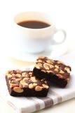 Cashew nut brownie Royalty Free Stock Image