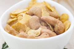 Cashew nut with Cereal Royalty Free Stock Images