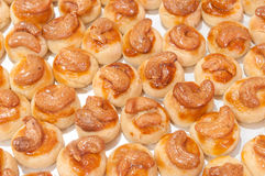 Cashew nut cookie. Close up Stock Photography