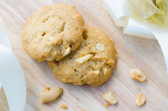 Cashew nut cookie Royalty Free Stock Image