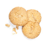 Cashew nut cookies over white Royalty Free Stock Photography