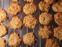Cashew nut cookies on steel grid Stock Photo
