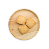Cashew Nut Cookies on a wooded plate Royalty Free Stock Photography