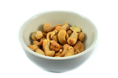 Cashew nut in cup Stock Photos