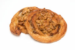 Cashew nut Danish pastry Royalty Free Stock Photo