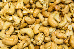 Cashew nut seed. Dried fry Royalty Free Stock Photo