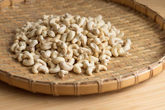Cashew Nut wood background selective focus. Cashew Nut wooden background selective focus Royalty Free Stock Photography