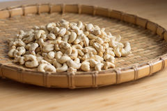 Cashew Nut wood background selective focus. Cashew Nut wooden background selective focus Stock Image