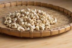 Cashew Nut wood background selective focus. Cashew Nut wooden background selective focus Royalty Free Stock Photos