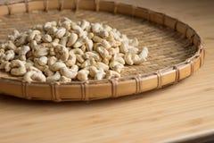 Cashew Nut wood background selective focus. Cashew Nut wooden background selective focus Stock Photo