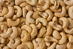 Cashew nuts. Snack food, dry cashew nuts spread as a background Royalty Free Stock Photography