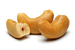 Cashew nuts. Isolated on a white background stock photos