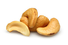 Cashew nuts. Isolated on a white background stock image