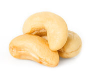 Cashew nuts. Close-up  on white background Royalty Free Stock Photography