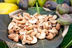 Cashew Nuts And Fruits Stock Photo