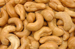 Cashew nuts background Royalty Free Stock Photography