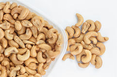Cashew nuts. Baked cashew nuts seasoning with salt,suitable to eat for delicious and health royalty free stock photo